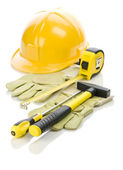 Gloves and tools for repairing — Stock Photo
