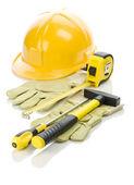 Nástroje pro opravu a rukavice — Stock fotografie
