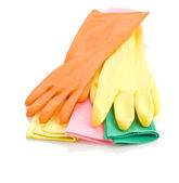 Gloves and rags — Stock Photo