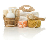 Different bathing accessories — Stock Photo