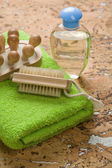 Group of articles on cork wood — Stock Photo