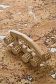 Masajeador de madera de corcho — Foto de Stock