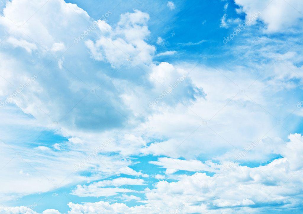 Blue heaven vith sparse cumulus clouds stock photo 169 mihalec