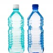 Two transparent bottle of water isolated on white — Stock Photo #5082833