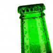 Top of bottle of beer dropped — Stock fotografie