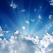 Sunbeam in the cloud — 图库照片