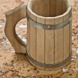 Wooden mug — Stock Photo