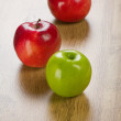 Three apples — Stock Photo