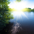 Royalty-Free Stock Photo: River and sun