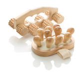 Wooden massagers for healthcare — Stock Photo