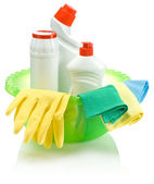 Supplies for cleaning — Stock Photo