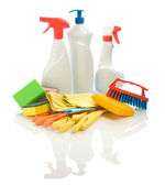 Set of cleaning articles — Stock Photo