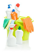 Set of cleaning accessories — Stock Photo