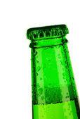 Superiore della bottiglia di birra è sceso — Foto Stock