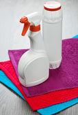 Dos botellas de toallas — Foto de Stock