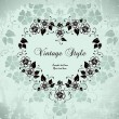 Vector de stock : Romantic vintage frame