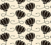 Pattern seamless with lotus — Stock Vector