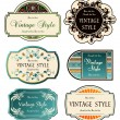 Stock Vector: Set of labels