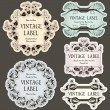Set of vintage labels — Stockvektor