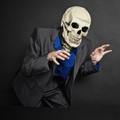 Terrifying person in skeleton mask stolen — Stock Photo