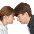 Stock Photo: Conflict between mand woman