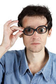 With poor vision — Stock Photo