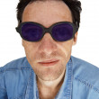 Funny man in dark glasses — Stock Photo