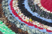 Vintage homemade colorful mat closeup — Stock Photo