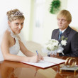 Marriage registration — Stock Photo