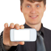 Person shows new gadget — Stock Photo
