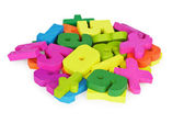 Color set of toys for training to mathematician — Stock Photo