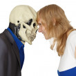 Stock Photo: Confrontation of death and