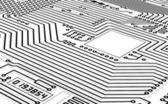 High-tech graphics monochrome background — Stock Photo
