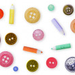 Seamless pattern - color old-fashioned buttons — Stock Photo