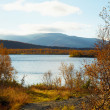 Mountain lake - autumn landscape — Stock Photo
