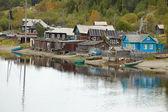 Wooden village on North Sea coast — Stock Photo