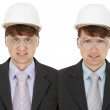 Stock Photo: Two foremen - twins