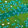 Stock Photo: Electronic green circuit board