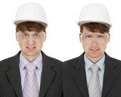 Two foremen - twins — Stock Photo
