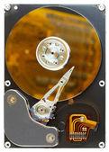 Disassembled computer hard disk — Stock Photo