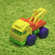 Small toy - car on carpet — Stock Photo