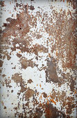 Surface de la tôle d'acier rouillée vieux — Photo