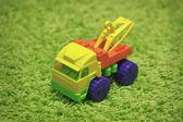 Piccolo giocattolo - auto sul tappeto — Foto Stock