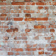 Background - dilapidated red brick wall — Stock Photo