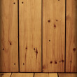 Unpretentious wooden walls and floor - Stock Photo