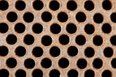 Rusty iron grate - element of industrial heat exchanger — Foto Stock