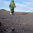 Stock Photo: Scientific ecologist in overalls in desert