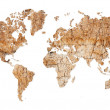World map - continents from dry deserted soil — Stock Photo