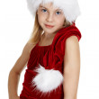 Portrait of teen girl in Christmas costume — Stock Photo