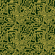 Stock Photo: Abstract seamless texture - circuit board